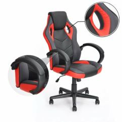 Computer Chair For Gaming Red Satin Sashes Coavas Racing Office High Back Pu Leather