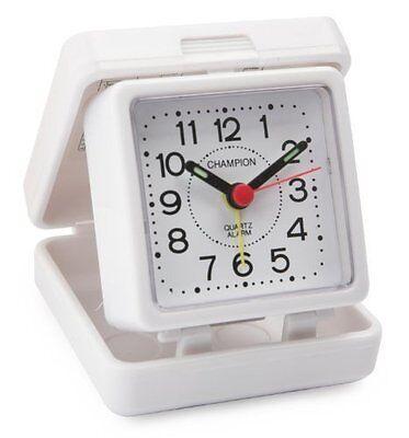 Champion Alarm Clock White Folding