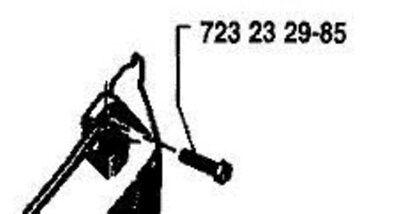 4 RECOIL COVER SCREWS # 724132955 HUSQVARNA 268 281 288 44