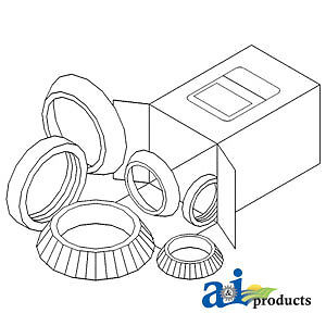 A-WBKMF3 Massey Ferguson Parts WHEEL BEARING KIT , 202