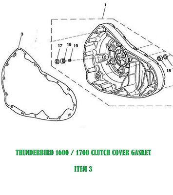 TRIUMPH THUNDERBIRD 1600-1700 CLUTCH COVER GASKET 2009