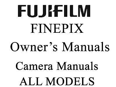 Fuji FujiFilm FinePix Camera User Guide Operator Manual (F