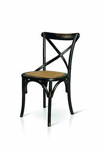 details sur chaise cuisine en bois noir consomme
