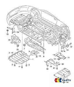 NEW GENUINE AUDI TT MK2 8J DIESEL PETROL ENGINE UNDERTRAY