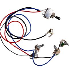 electric guitar wiring harness kit 2v2t 3 way switch for guitar parts [ 1200 x 1200 Pixel ]