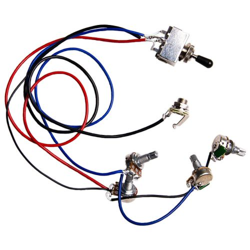 small resolution of electric guitar wiring harness kit 2v2t 3 way switch for guitar parts