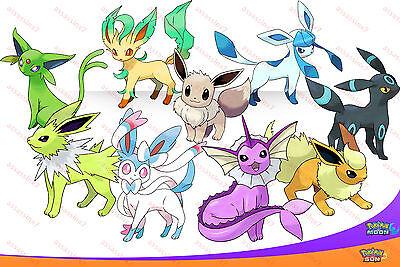 All 9 SHINY 6IV Eeveelutions Pokemon SUN  MOON Eevee
