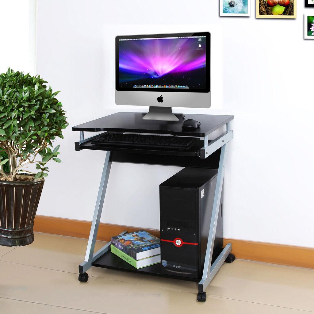 ZShape Computer Desk Table Workstation Wheel Sliding