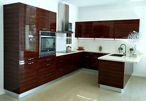 kitchen laminate cabinet with glass doors high gloss lacquer acrylic for cabinets image is loading