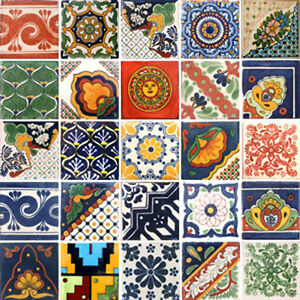 details about set 001 contain 25 mexican 2x2 ceramic tiles handmade talavera clay tile