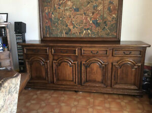 details sur salle a manger louis xiii chene massif grand buffet enfilade table 6 chaises