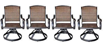 patio outdoor wicker santa clara swivel rocker dining chairs set of 4 35426205524 ebay