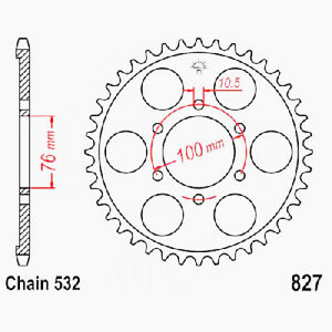 Sprocket 43zähne Chain Size 532 Jtr827.43 Suzuki Gsx-R