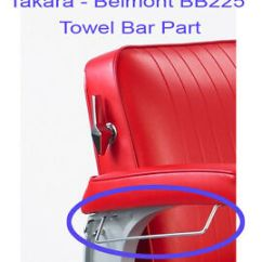 Belmont Barber Chair Parts How To Make Bean Bag Filling Takara Elegance Bb 225 Towel Bar Replacement Image Is Loading
