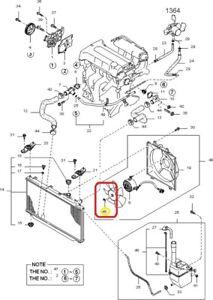Cooling Fan Blade Ret. Clip GENUINE KIA 0K20115T56 97-01