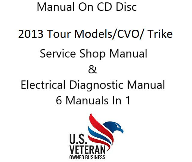CD Service Manual For 2013 Harley Davidson All Touring