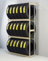 Tire Rack Garage Storage Wall Mount Multi-Tire Vertical ...