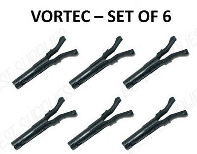 SET OF 6 VORTEC SPIDER INJECTOR SCPI RETAINER CLIPS 1996