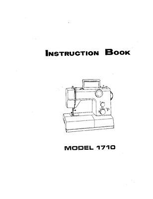White W1710 Sewing Machine/Embroidery/Serger Owners Manual