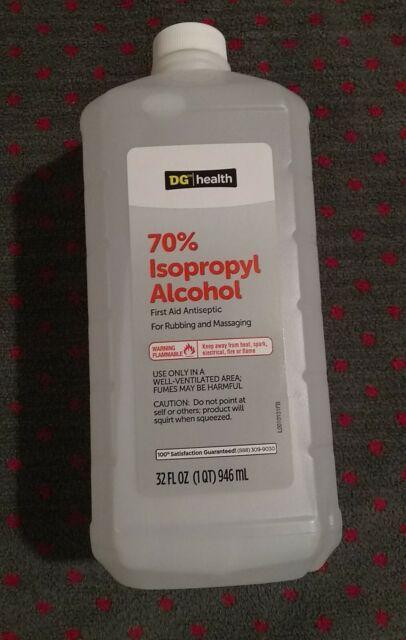 1 LARGE Dollar General 70% Isopropyl Alcohol 32 oz BOTTLE ...
