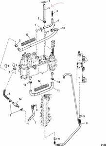 OEM Mercury Quicksilver Marine 135 ~ 200 HP Hose Fuel Pump