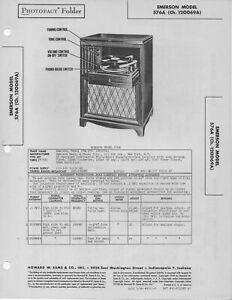 1948 EMERSON 576A CONSOLE PHONOGRAPH RADIO SERVICE MANUAL