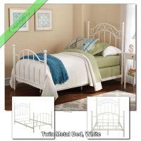 Twin Metal Bed Frame for Girls Boys Kids Dorm Bedroom ...