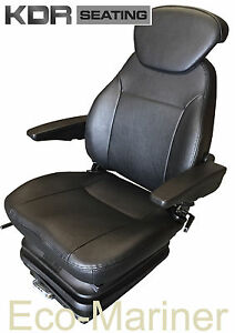 Value Pilot Chair Boat Helm Seat With Armrests PVC Trim