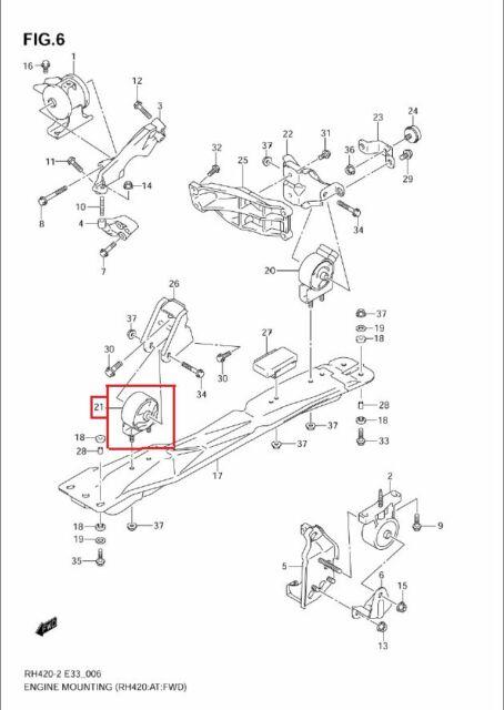 2007-2009 SUZUKI SX4 5 DOOR MT & AT FWD & AWD FRONT ENGINE