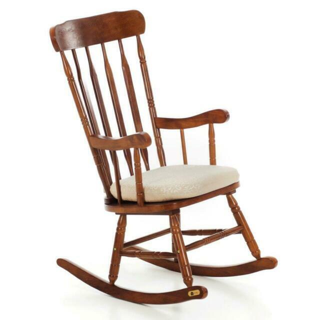 Sedia a dondolo da giardino; Sedia A Dondolo Da Esterno In Legno Acquisti Online Su Ebay