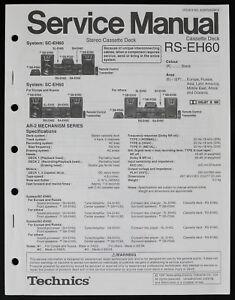 Technics RS-EH60 Original Cassette Deck Service Manual