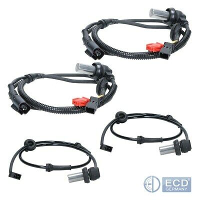4 x ABS Sensor Raddrehzahl Drehzahlfühler vorne + hinten