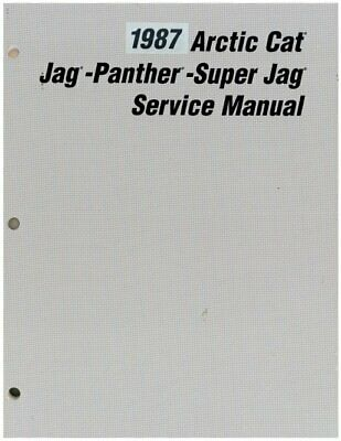 1987 Arctic Cat Jag Panther Super Jag Snowmobile Service