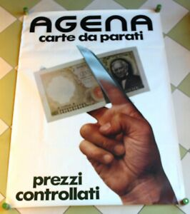 Azienda contatti media area riservata Agena Carta Parati Manifesto Originale 1976 Epoca Vintage Publicita Advertising Ebay