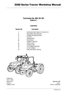 Massey Ferguson 3300 Series Tractor Workshop Manual