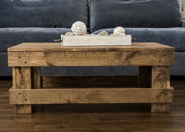 coffee table solid wood center accent farmhouse rustic living room furniture new