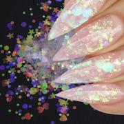 usa clear rainbow glitter shapes