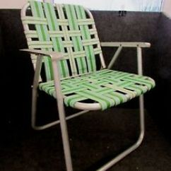 Lightweight Lawn Chairs High Chair Booster Aluminum Folding Webbed Arms Green Image Is Loading