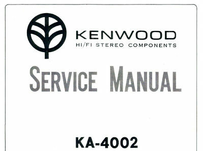 KENWOOD KA-4002 TRIO SERVICE MANUAL BOOK IN ENGLISH SOLID