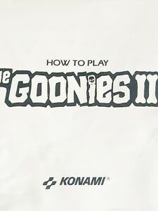 The Goonies II 2 NES Nintendo instruction booklet Game