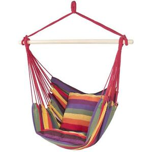 tree hanging hammock chair recovering lawn chairs seat rope portable comfortable camping image is loading