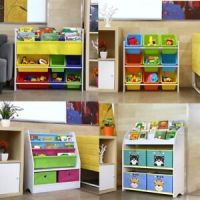 Children Kids Toy&Book Storage Rack Bookcase Bookshelf ...
