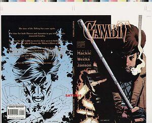 LEE WEEKS GAMBIT ORIGINAL COMIC PRODUCTION ART COVER X-MEN MOVIE MARVEL COMICS