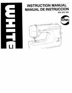 White W970-W972-W979 Sewing Machine/Embroidery/Serger