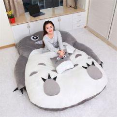 Anime Bean Bag Chair Folding Cushions Huge Totoro Sleeping Soft Plush Large Cartoon Sofa Bed Image Is Loading