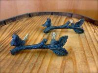 2 ANTIQUE BRONZE BIRD ON TWIG DRAWER CABINET PULLS HANDLES ...