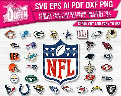 Download NFL Footbal LOGOS Digital Download-SVG DXF EPS AI PNG ...