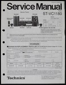 TECHNICS ST-VC1180 Original Tuner Service-Manual/Diagram