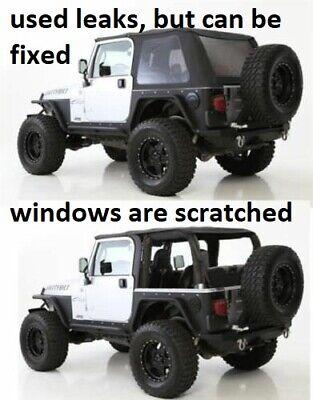 Jeep Jk Frameless Soft Top : frameless, BLACK, Bowless, 1997-2006, Wrangler, 9973235