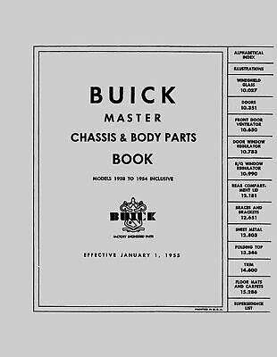 OEM Repair Maintenance Parts Book Loose Leaf for Buick All